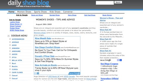 blog with google ads
