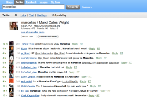IceRocket Search Results for Marcella's