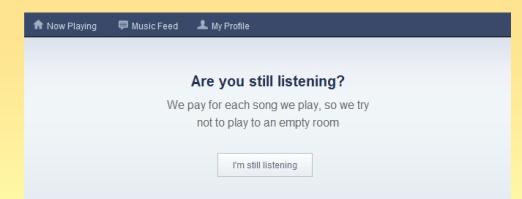 Pandora Radio Are You Still Listening