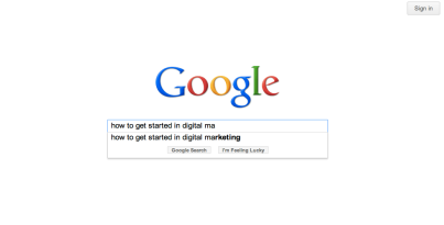 How to get started in digital marketing