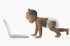Baby with Computer